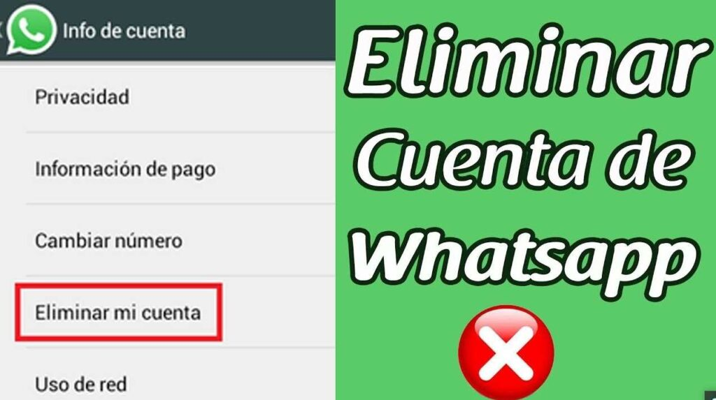 eliminar una cuenta en WhatsApp