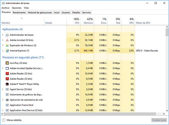 Deshabilitar procesos innecesarios en Windows 10