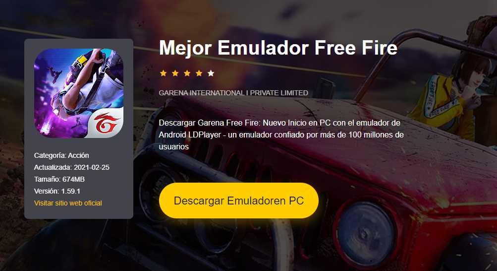 Mejor Emulador para Free Fire 2021